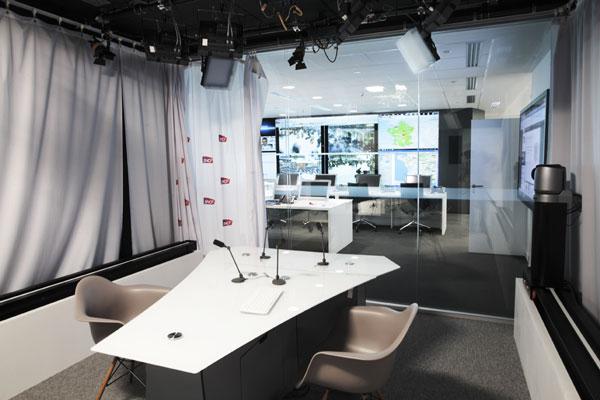 Installation audiovisuelle réalisée par Videoline