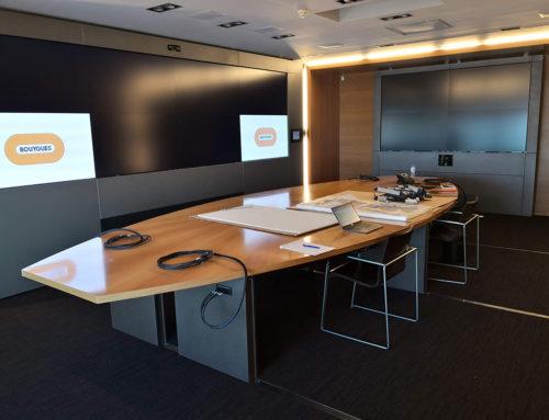 Ingénierie audiovisuelle pour une installation au siège de Bouygues