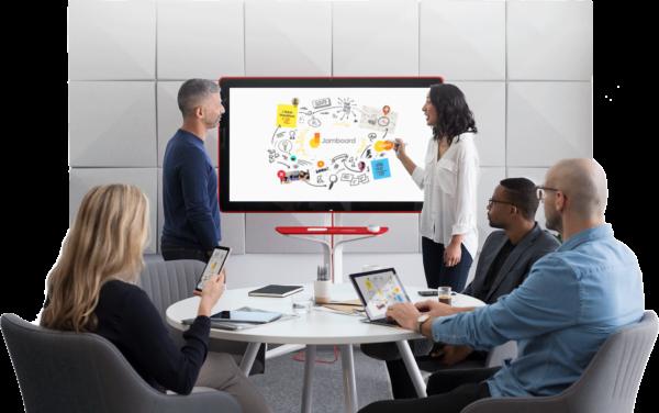 écran collaboratif pour les salles de réunion