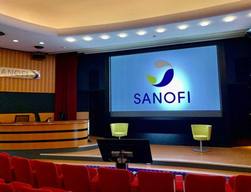 Équipement audiovisuel d'un auditorium chez Sanofi
