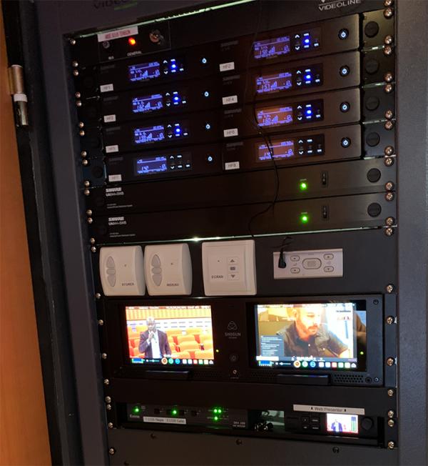 équipement audiovisuel auditorium Sanofi