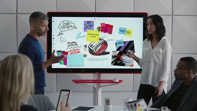 Evcran interactif Google jamboard pour les Huddle rooms